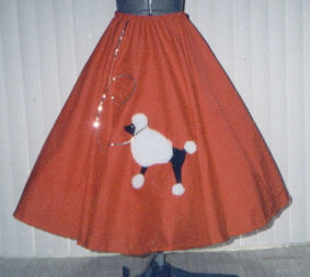 Red Poodle Skirt